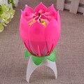 Музыка для пения хот-Джой, день рождения, однослойная свеча лотоса, цветущая музыкальная свеча NDS66