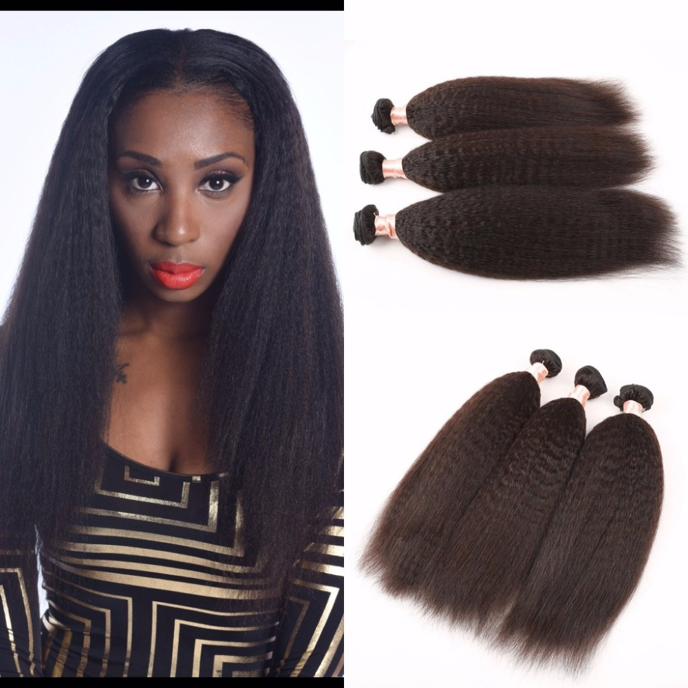 7a Grade Brazilian Virgin Human Hair Yaki Straight Light Yaki