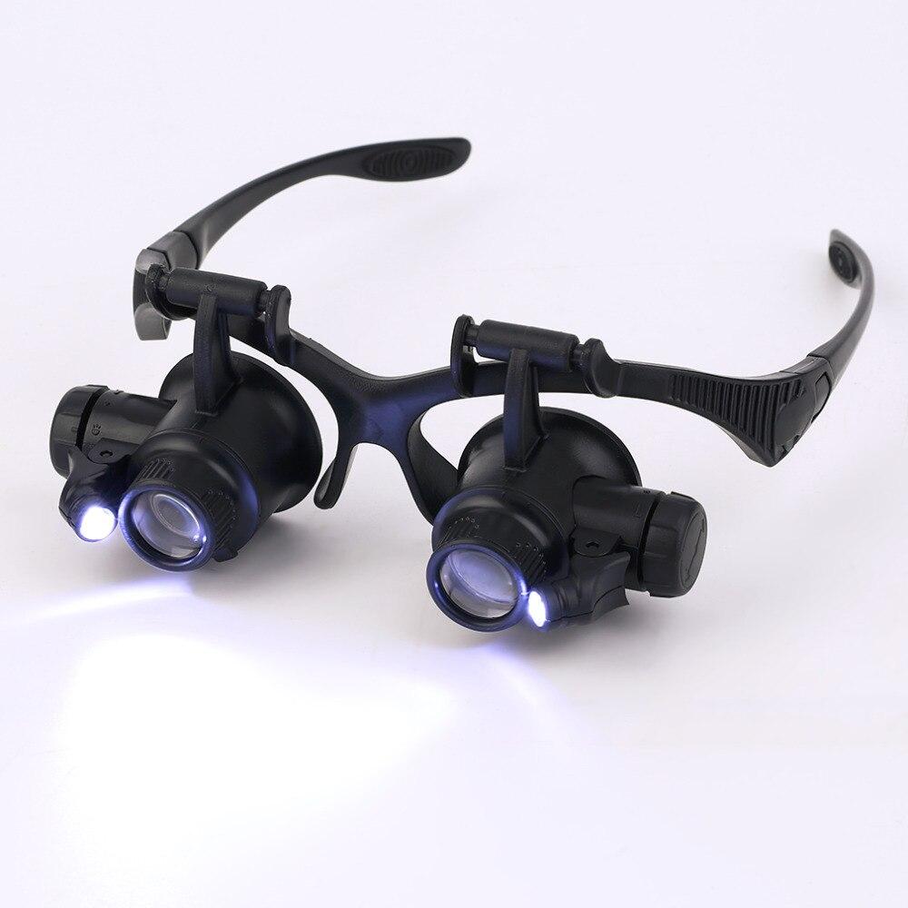 Qualidade 20x Lupa lupa Eye Glasses Loupe Lens Jeweler Assista Repair Tool, Ferramenta joalheiro loupe com Retail Box Gota grátis