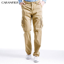 CARANFIER Men Trousers Cargo Pants Multi-pocket Uniform Military Tactical Style High Quality Classic Trousers  Army Combat New