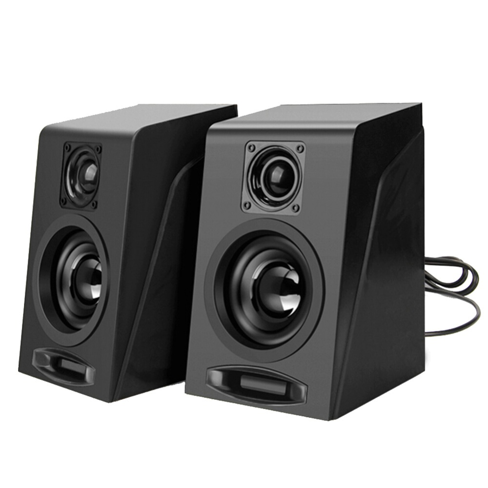 dual coil usb 2 0 wired mini portable multimedia computer speaker with audio jack rotating. Black Bedroom Furniture Sets. Home Design Ideas