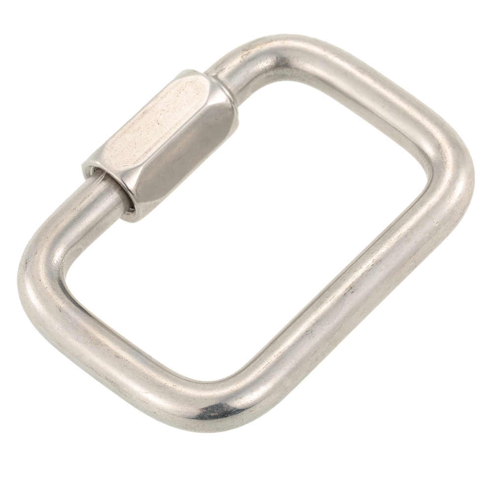 Stainless Steel Square Quick Link Locking Carabiner Hanging Hook Buckle for Paraglider Wing Camping Hiking Outdoor Tools