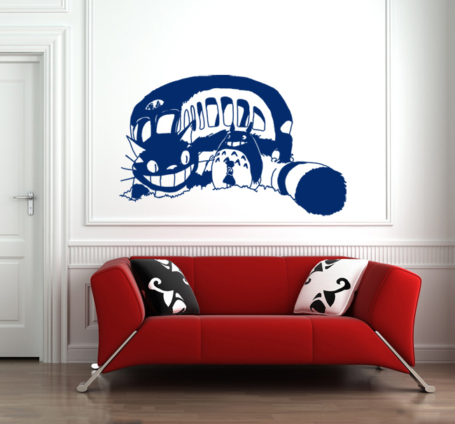 Superb Aliexpress.com : Buy Japanese Cartoon Totoro Vinyl Wall Decal Creative Big  Cat Bus Anime Wall Sticker Kidu0027s Room Bedroom Home Decorative Decor From  Reliable ...