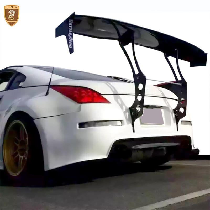 CSSYL Real Carbon fiber GT Wing Rear Spoiler Universal Auto Rear Trunk GT Spoiler Wing Accessories Auto For Toyota GT 86 maserati granturismo carbon spoiler