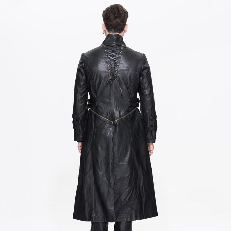 2018 Devil μόδας Steampunk Vintage Αποσπώμενη PU - Ανδρικός ρουχισμός - Φωτογραφία 3