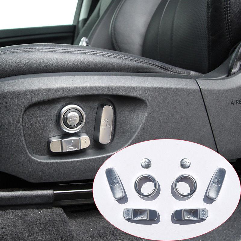 8 pièces De Voiture De Chrome D'ABS Siège Bouton Couverture Garniture de Cadre Autocollant Pour Land Rover Discovery Sport 2015-2017 Accessoires Voiture