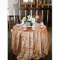Wholesale Round Sequin Gold Silver Champagne Colorful Table Cloth Decoration Bling Table Cover for Wedding Party Buffet centerpi