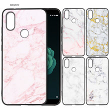 Silicone Soft Case Cover for Xiaomi A2 Lite A1 Redmi S2 Note 5 Plus 6 6A 4 4X Pro Poco F1 Gold Foil Bling Marble(China)