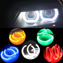 super bright LED Crystal Angel Eyes for F30 F35 Car headlight No error 5 color car led angel eyes new styling 120*128mm