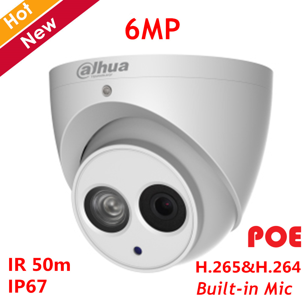 Dahua 6MP POE IP Camera IPC-HDW4631EM-ASE 6MP IR Network Camera H.265 Support Smart detect and SD Card 128g Built-in micDahua 6MP POE IP Camera IPC-HDW4631EM-ASE 6MP IR Network Camera H.265 Support Smart detect and SD Card 128g Built-in mic