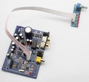 Image 2 - Placa de decodificador de cuatro canales AK4490 + AK4118, 15W, con USB coaxial de fibra (tarjeta hija para agregar USB), analógica, cuatro entradas