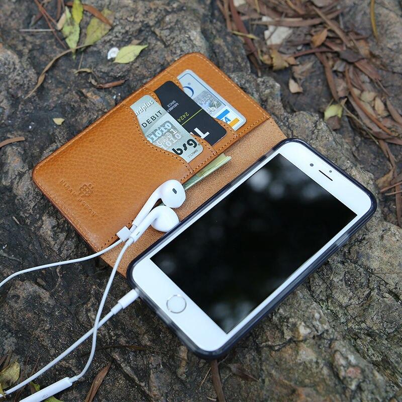 Original mobile cas Pour iphone 8 X flip cas 6 7 plus Véritable En Cuir De Luxe Portefeuille Téléphone Cas suprême portefeuille personnalisé nom