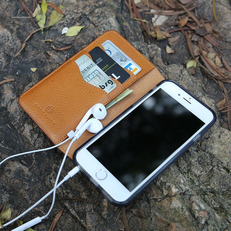 Цена за Оригинальный мобильный Чехлы для iPhone 5 SE флип чехол 6 6 S 7 Plus Натуральная кожа Роскошный кошелек чехол для телефона 4.7 inchcustom Имя сервиса