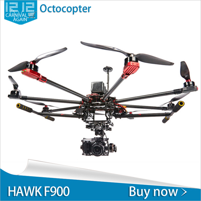 Octocopter frame carbon fiber GPS control electronic retractable ...