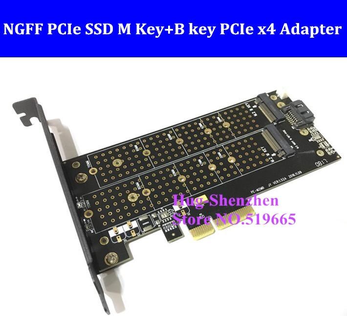 Купить с кэшбэком M.2 NGFF PCIe SSD M Key+B key PCIe x4 Adapter for Apple Mac Pro 3,1-5,1 for SM951 M6E
