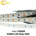 4 in 1 RGBW LED Strip 5050 DC12V Flexible LED Light RGB+White / RGB+Warm White 4 color in 1 LED Chip 60 LED/m 5m/lot.