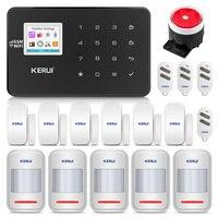 KERUI W18 Беспроводной Wi Fi GSM дома охранной сигнализации Системы охранной сигнализации комплект Android ios APP Управление с дистанционным Управление