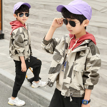 2019 Spring  Autumn Boy Camouflage Casual Jacket Caot