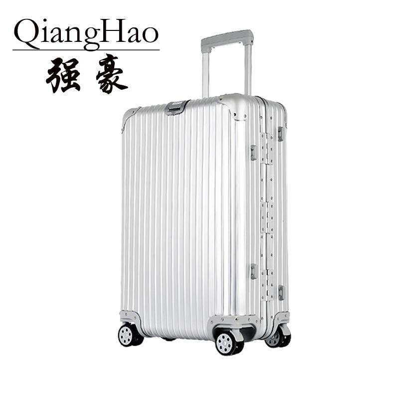 100% Aluminum Hardside Rolling Travel Luggage Suitcase 202529 inch On Luggage Cabin Trolley Suitcase Aluminum Suitcase y road travel trolley luggage suitcase 100