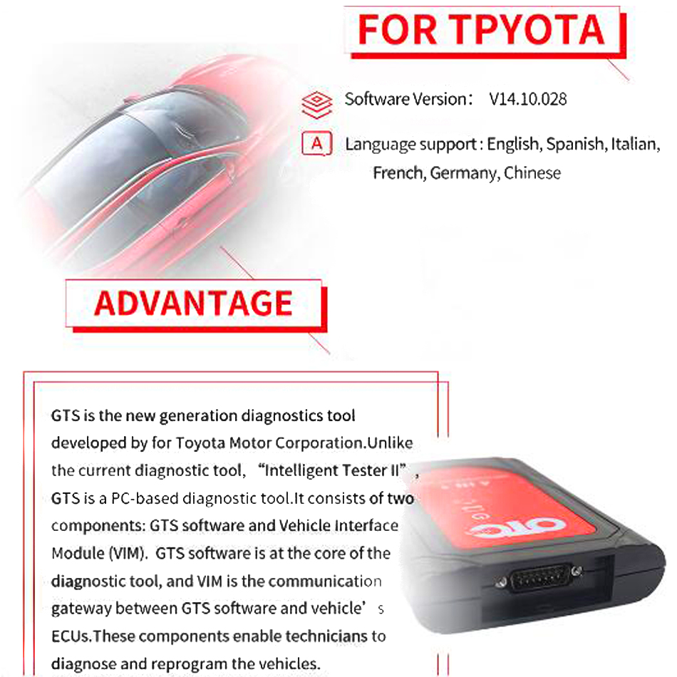 Image 4 - professional obd2 automotive scanner IT3 V14.10.028 Global Techstream OTC Plus 3 in 1 OBDII  OTC Scanner car diagnostic tool-in Car Diagnostic Cables & Connectors from Automobiles & Motorcycles