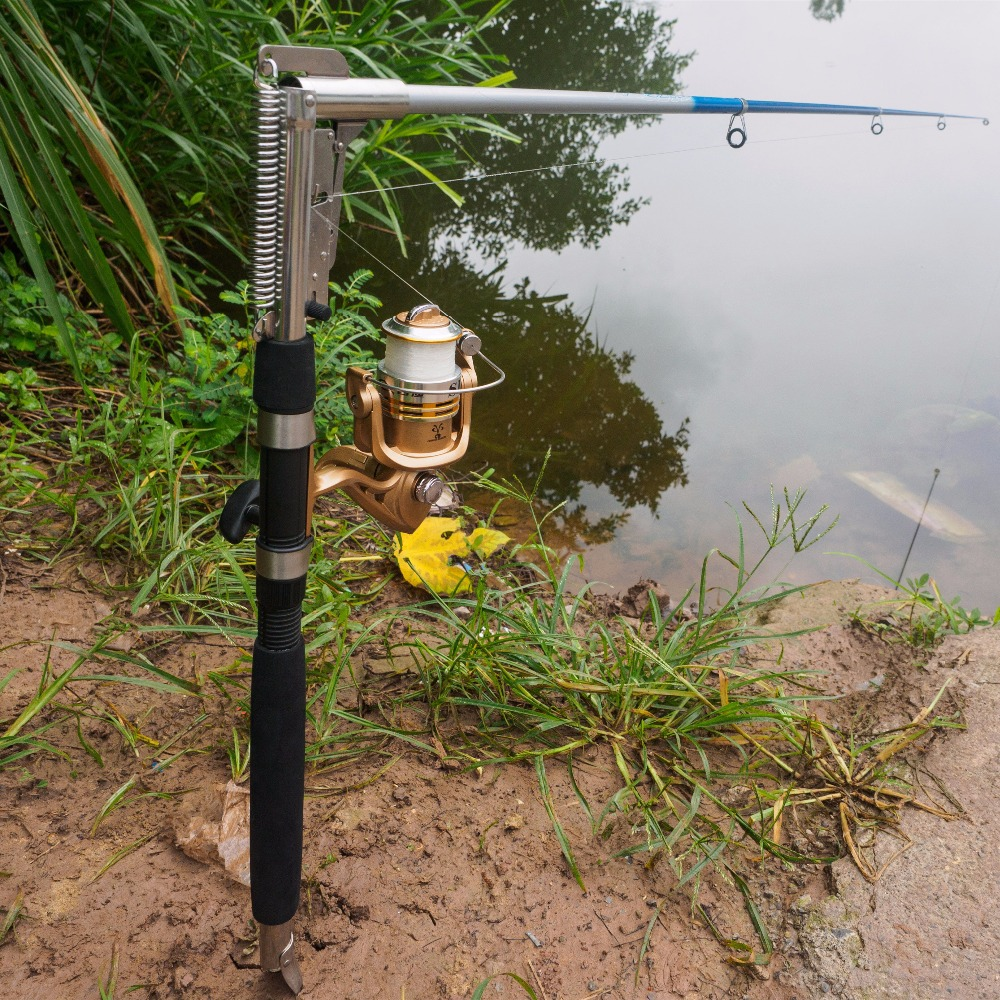 1.8m 2.1m 2.4m 2.7m Stainless Steel Fishing Rod Spinning Fishing Pole River Lake