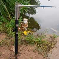Aggiornamento 1.8m 2.1m 2.4m 2.7m In Acciaio Inox Automatico Canna Da Pesca Spinning Canna Da Pesca Telescopica Canna Da Pesca Mare fiume Lago Pole
