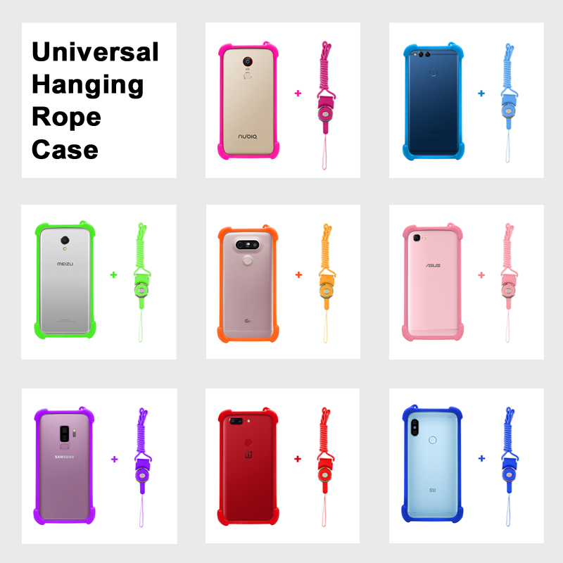 Oppo R15 case R 15 Universal Silicon Case For oppo F7 cover F 7 Ropes For Oppo A3 case cover A1