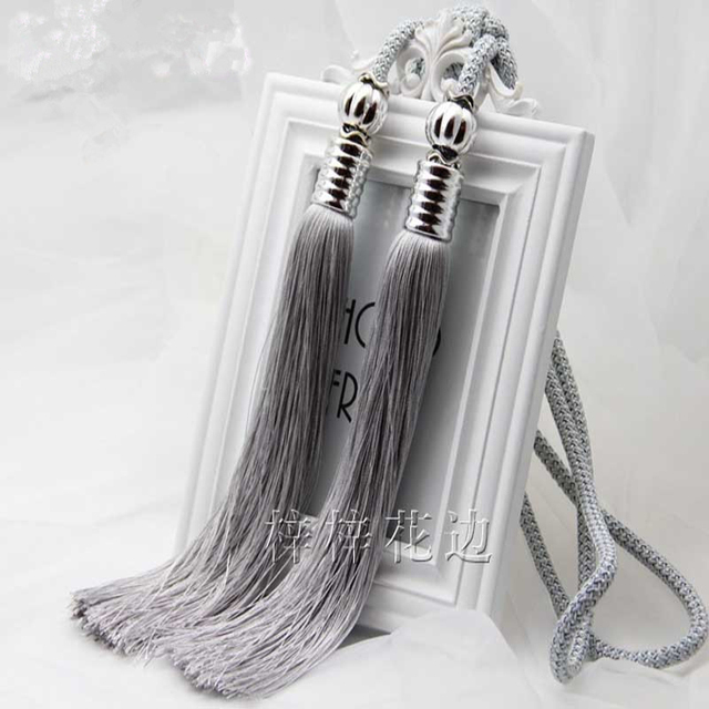 grijze gordijnen opknoping ballen hand geweven gordijnen accessoires gordijnen clips kwasten tieback houder gesp zwart cp023