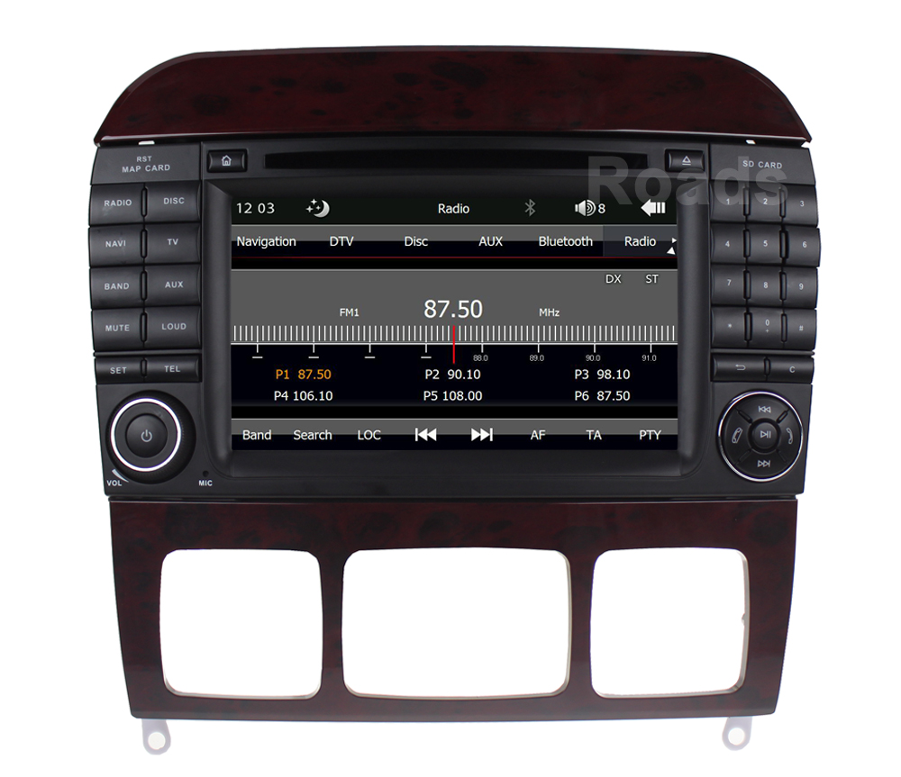 Car DVD Player Radio for Mercedes/Benz S Class W220 S280 S320 S430 S500 S55 W215 CL600 CL55 with Canbus GPS BT USB 1 pair for 92 02 mercedes w220 s320 s430 s500 w215 led mirror turn signal light smoke