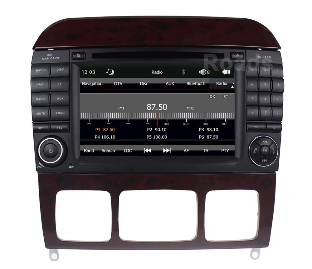 все цены на Car DVD Player Radio for Mercedes/Benz S Class W220 S280 S320 S430 S500 S55 W215 CL600 CL55 with Canbus GPS BT USB