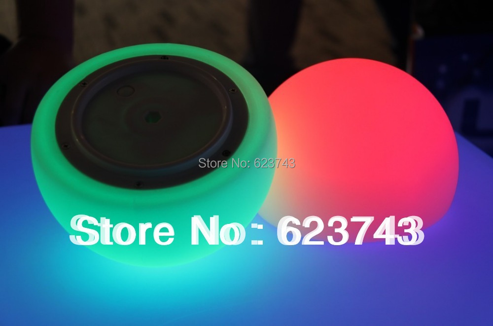 Free Shipping Colorful LED semicircle bar table lamp, rechargeable LED glowing lighted ball pool light waterproof IP68