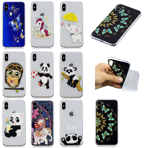 New Arrival Fashion cartoon animal Soft TPU case for iphone7plus/8plus