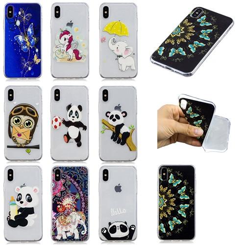New Arrival Fashion cartoon animal Soft TPU case for iphone7plus/8plus