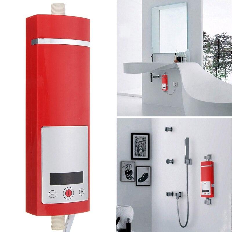 IPX4 étanche chauffe-eau électrique 5500 W affichage numérique instantané Intelligent contrôle de température Touchs Type salle de douche