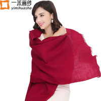 2016 High Quality Australian Pure Wool Ladies Winter Scarves Candy Color Shawls And Wraps Large Foulards