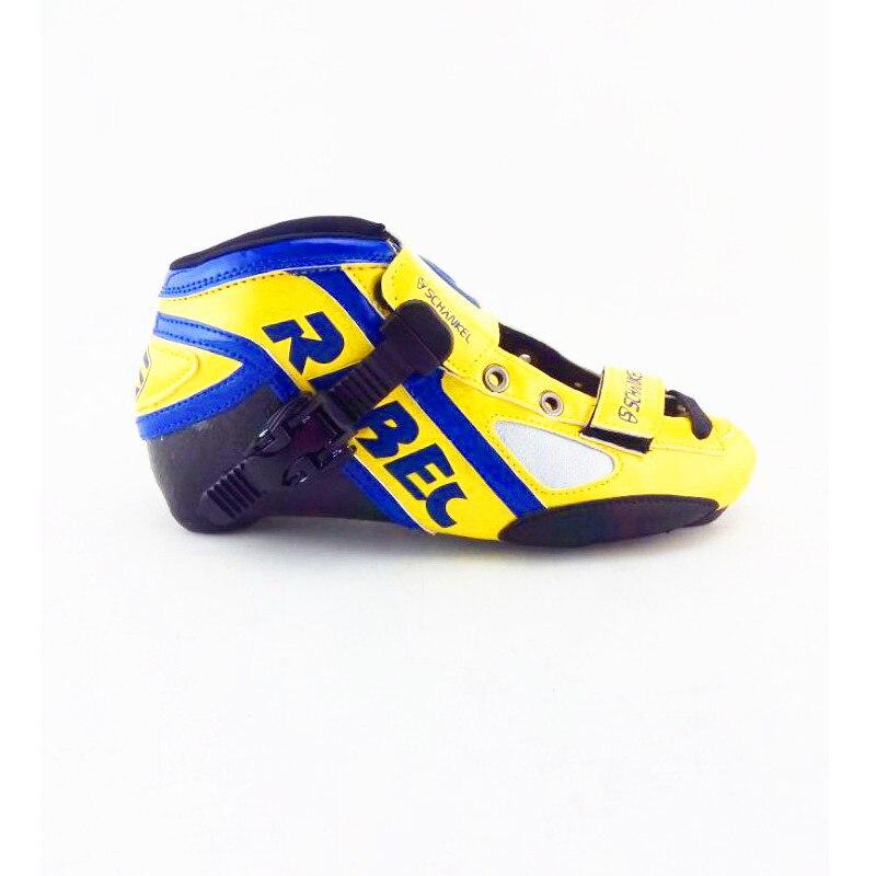 Prix pour Professionnel Patins Rouleau De Patinage Jaune Chaussures Inline Patins vitesse skateing chaussures