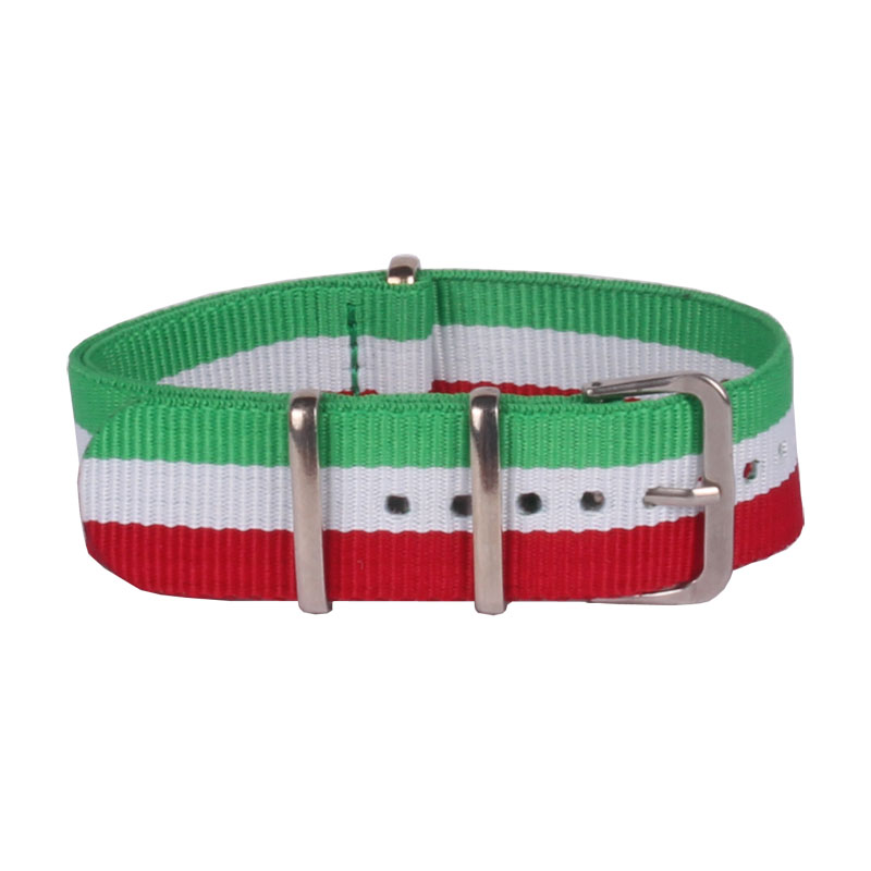 Wholesale Fashion New Watchbands Men Women Military Army Nylon Watches Green Red White Straps Wristwatch Band Buckle 20mm Belts