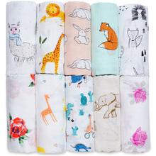Cotton Bamboo Baby Blanket Soft Baby Muslin Swaddle Wrap Bebe Big Diap