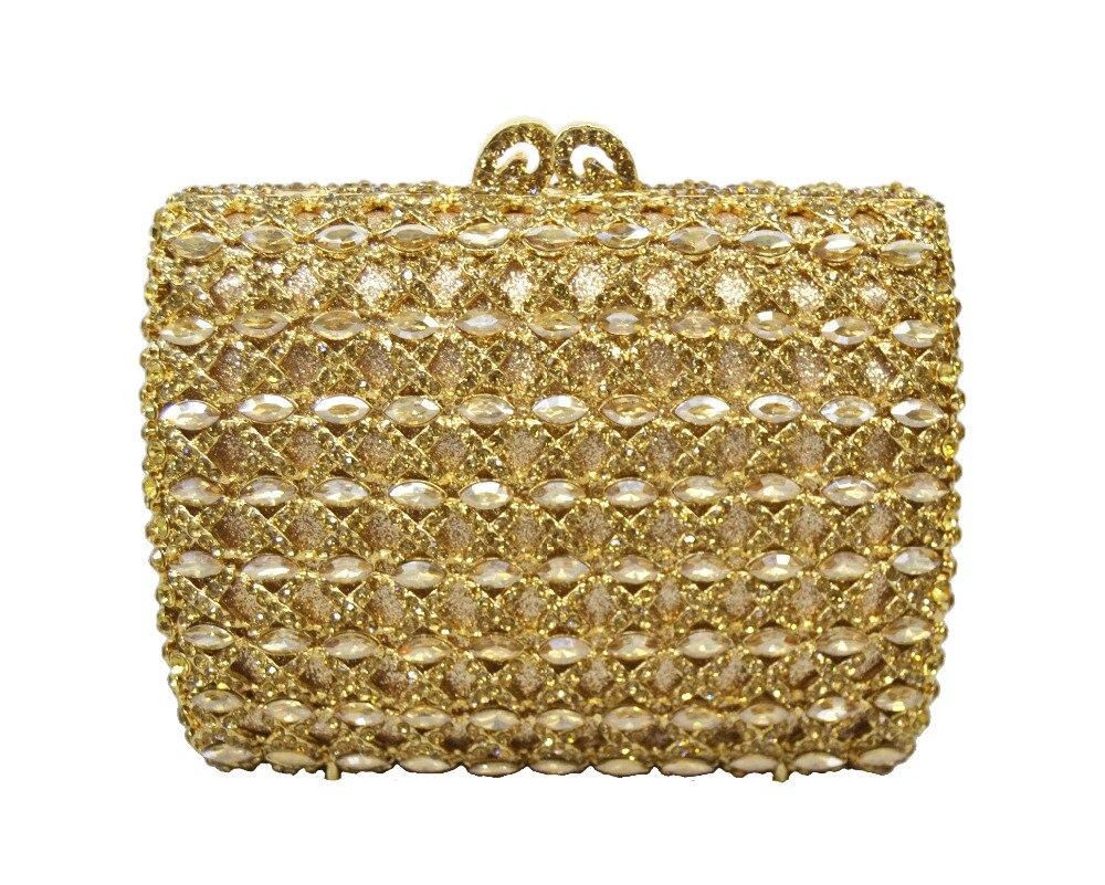 Hermosos Bolsos de Tarde Del Rhinestone Floral Crystal Jeweled Embrague de Plata