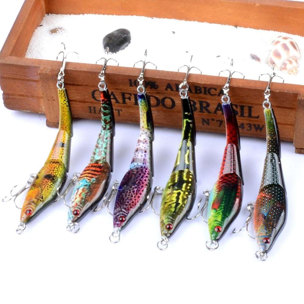 Fulljion 6 قطعة / الوحدة 3 أقسام vib الصيد السحر اللوحة سلسلة wobblers crankbaits الاصطناعي الطعوم الثابت pesca