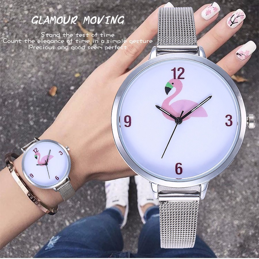 vansvar-brand-women-creative-flamingos-watch-fashion-casual-ladies-silver-mesh-quartz-dress-wristwatches-relogio-feminino-hot