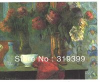 Paul Gauguin Still Life Oil Painting Reproduction on Linen canvas,The White Bowl, Free DHL Shipping,Museum Quality,100%handmade