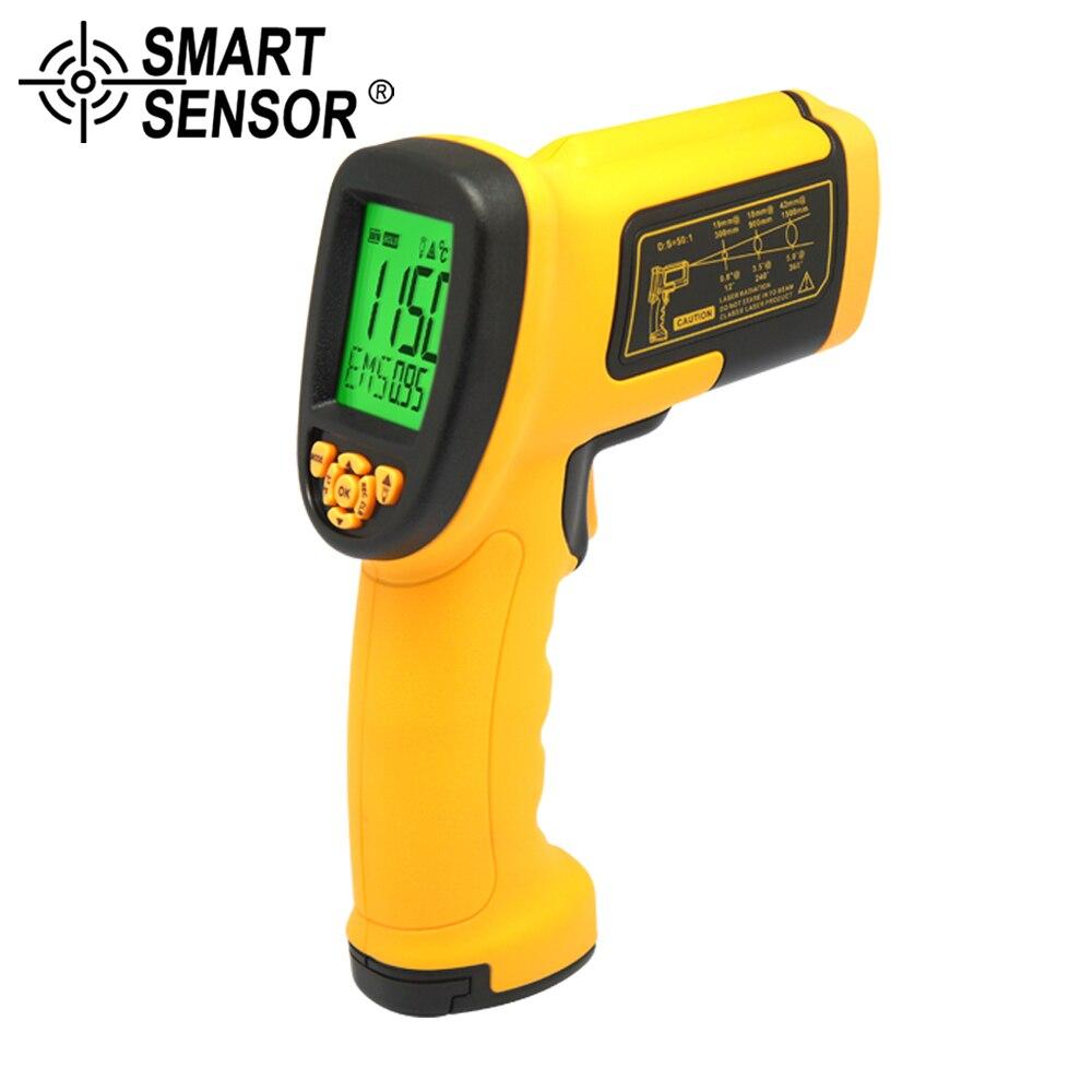 SMART SENSOR -18~1150C(-0-2102F)50:1 Infrared Thermometer high temperature Laser Electronic Temperature Gun Measurement meterSMART SENSOR -18~1150C(-0-2102F)50:1 Infrared Thermometer high temperature Laser Electronic Temperature Gun Measurement meter