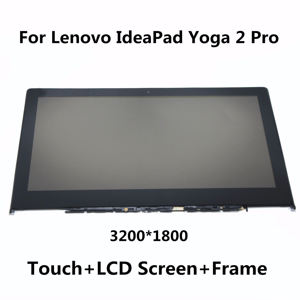 New For Lenovo IdeaPad Yoga 2 Pro 13.3 LCD Screen Display+Touch Glass Panel Digitizer Assembly with Frame LTN133YL01 LTN133YL03 for lenovo yoga tablet 2 1050 1050f 1050l new full lcd display monitor digitizer touch screen glass panel assembly replacement