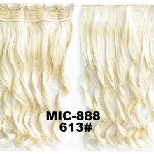 5 шт./лот вьющиеся клип в на синтетические волосы Slice парики 5 клипы жаростойкие Наращивание волос 24 дюймов, 100 грамм MIC-888