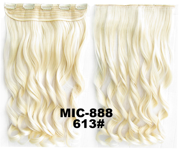 5pcs/lot Curly Clip In On Synthetic Hair Slice Hairpiece 5 Clips Heat Proof Hair Extension 24inches,100grams Mic-888 An Indispensable Sovereign Remedy For Home Hair Extensions & Wigs