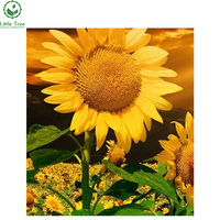 2017 New 5D DIY Diamond Painting Sunflower Triptych Embroidery Novelty Mosaic Cross Stitch Fashion Resin Craft wall decoration