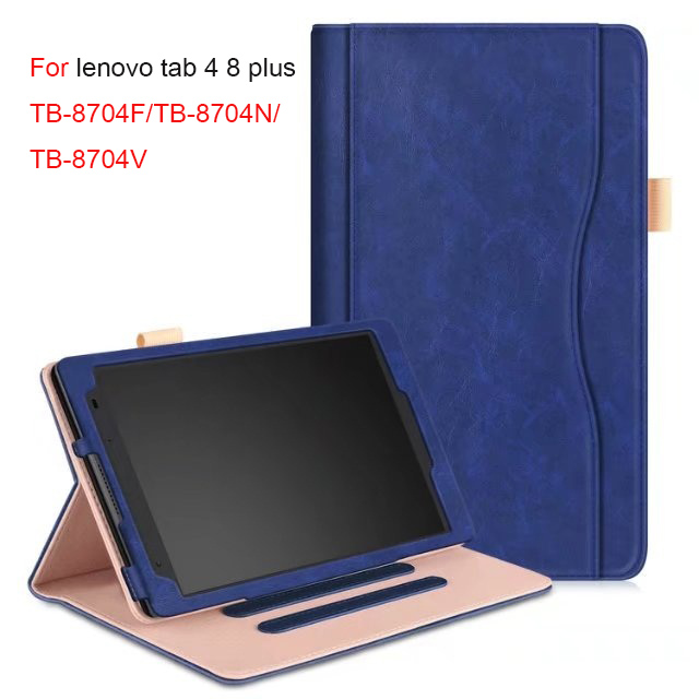 Luxury Business leather Case For Lenovo Tab4 8 plus TB-8704F/N Smart Cover 8.0 inch Tablet Case For Lenovo TAB 4 8 plus TB-8804F new print luxury magnetic folio stand fashion prints flower leather case cover for lenovo tab 3 8 plus tab3 p8 tb 8703f tb 8703n