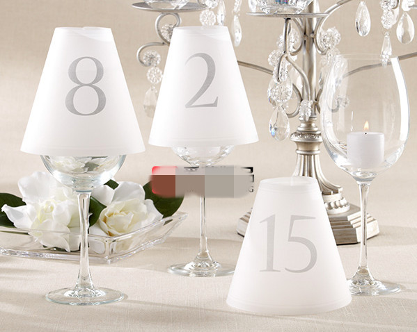 New arrival number 1 to 15 elegant vellum wine glass table for Glass tables for wedding reception