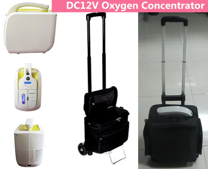 DC12V 110V 220V Car Use Oxygen Concentrator With Car Charger Mini Oxygen Generator for Outdoor Use OC OG medical oxygen concentrator for respiratory diseases 110v 220v oxygen generator copd oxygen supplying machine